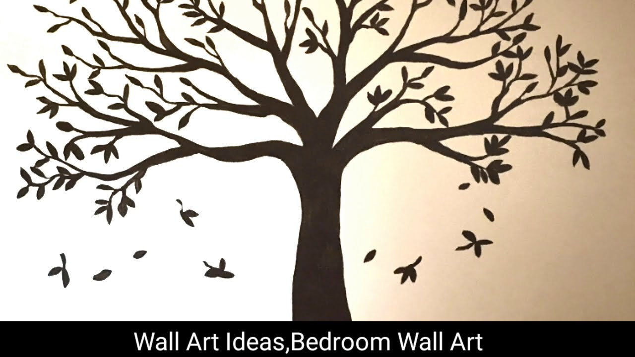 100 Easy Diy Wall Art Wall Decor For Living Room Tree Wall Decal 2019 Youtube
