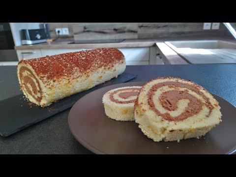 biscuit-roulé-sans-gluten,-ganache-au-chocolat-sans-lactose---gf/lf-rolled-biscuit-chocolate-ganache