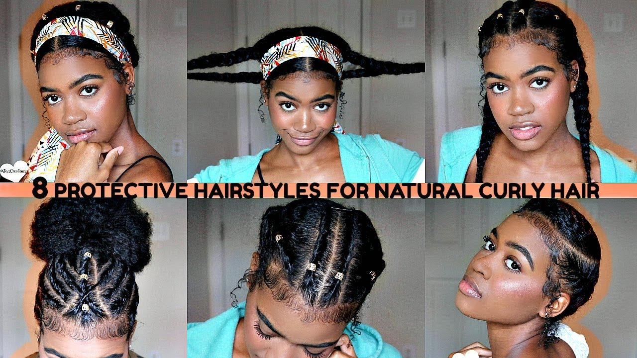 Easy Fall Winter Protective Hairstyles For Natural Curly Hair 2018