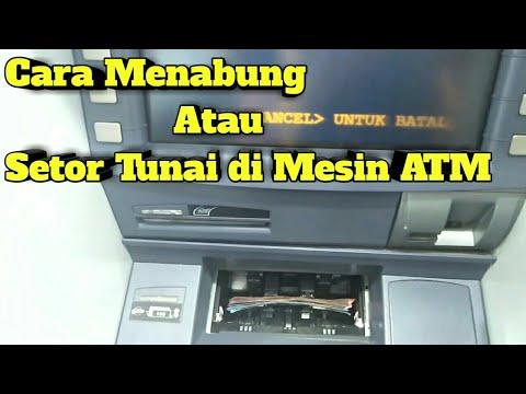 Cara Setor Tunai Atau Nabung di Mesin ATM Mandiri - YouTube