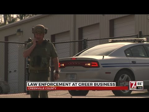 Law enforcement at Greer business