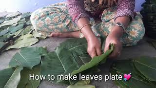How To Make Leaves Plate || टपरा बनाउने तरिका || 2018