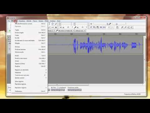 Migliorare l'audio con Audacity - YouTube Tutorial