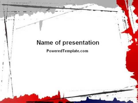 blood ppt templates free download - free blood splatter theme powerpoint template by
