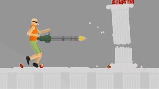 INSANE MINI GUN DESTRUCTION! (Happy Wheels #22)