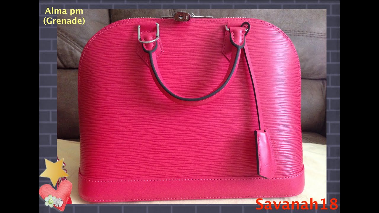 a43563873310 Louis Vuitton UNBOXING! - Alma pm in Epi Leather! - YouTube