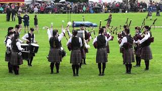 Kelty and Blairadam Pipe Band awarded 2nd place in Grade 4 at the 2019 Pitlochry Highland Games