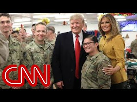 Trump, first lady make surprise visit to Iraq
