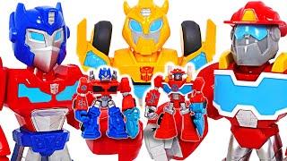 Transformers Rescue Bots Academy Mega Mighties Optimus Prime, Bumblebee! | DuDuPopTOY
