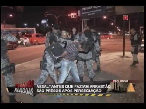 Assaltantes que faziam arrastão são presos após perseguição
