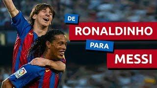 O dom que Ronaldinho deu a Messi
