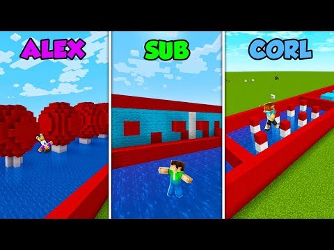 ALEX vs SUB vs CORL - WIPEOUT in Minecraft! (The Pals) thumbnail