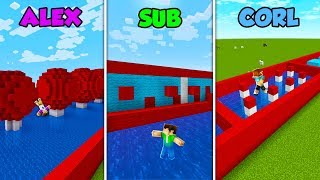 ALEX vs SUB vs CORL - WIPEOUT in Minecraft! (The Pals)