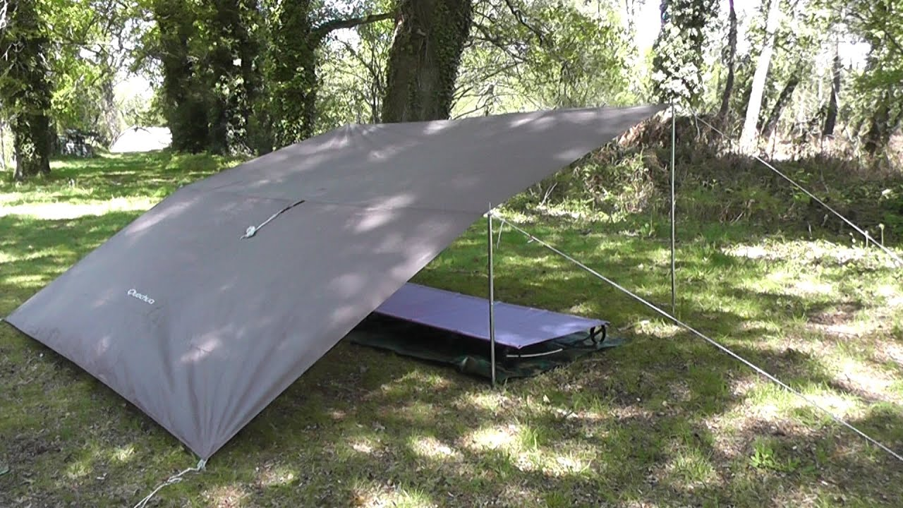 Tarp Decathlon et lit de camp OUTAD   YouTube Tarp Decathlon et lit de camp OUTAD