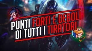 PUNTI FORTI E DEBOLI DI TUTTI I TIRATORI (guida iniziale) • League of Legends ITA