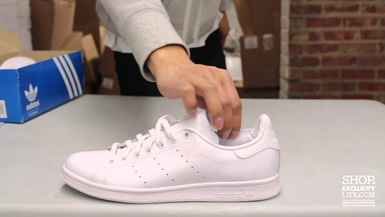 5d4f14345b47 Adidas Stan Smith White - White Unboxing Video at Exclucity - YouTube
