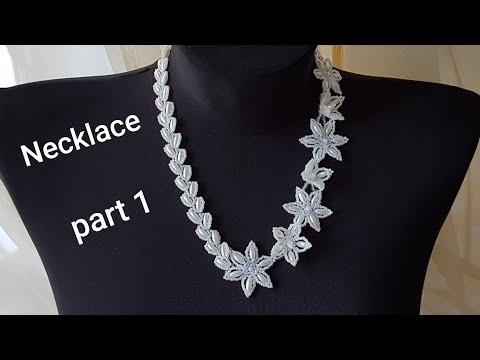 Bead Necklace/Pearl Necklace/Diy Necklace/Necklace With Flowers/Колье из бусин бисера/Часть 1
