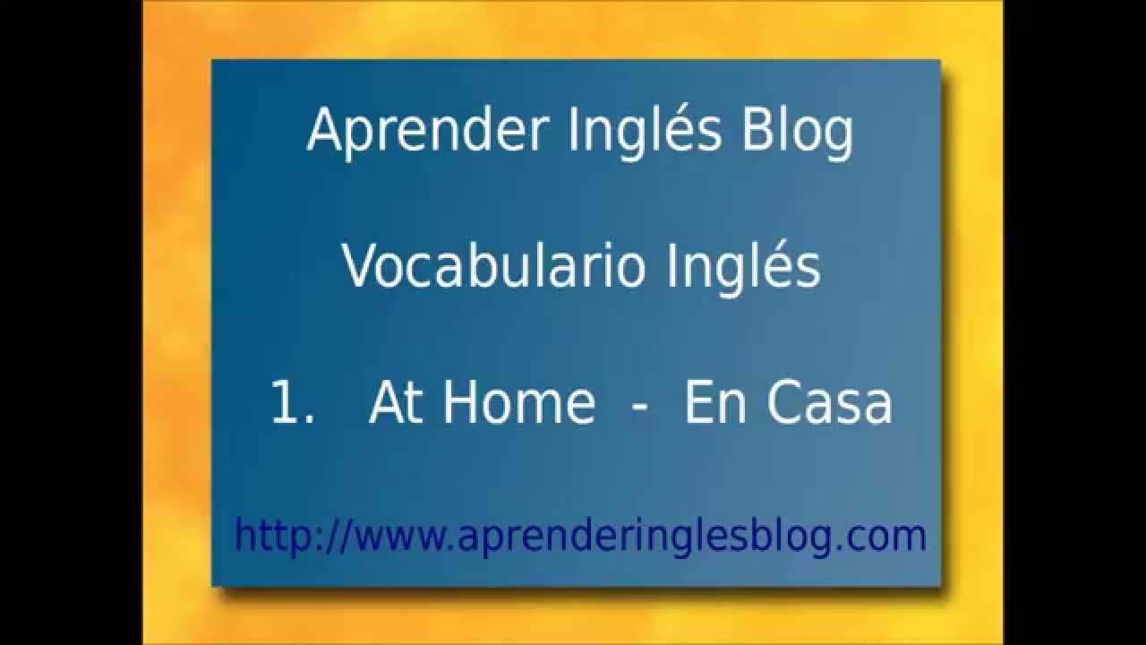 Vocabulario Ingls en Casa  at Home practica palabras en