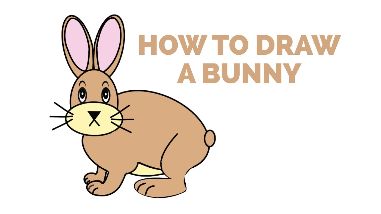 How To Draw A Bunny Rabbit  Easy Stepbystep Drawing Tutorial