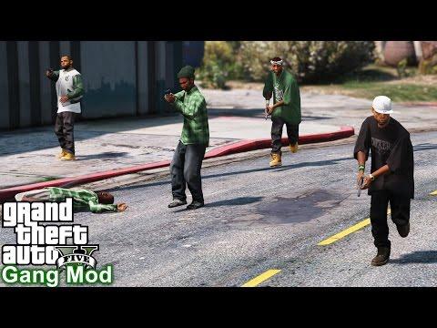 GTA 5 GANG MODS #1   JOINING A GANG & ULTIMATE GANG WARS   GROVE STREET FAMALIES Vs BALLERS Vs VAGOS
