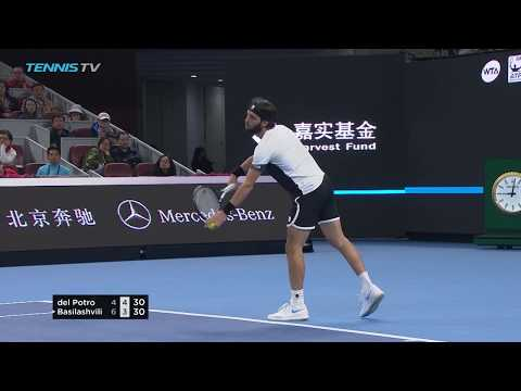 Hot Shot: Basilashvili Eventually Overcomes Del Potro In Epic Rally In Beijing 2018