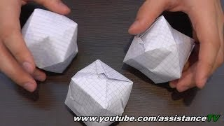 объемный куб из бумаги / Фусен из бумаги