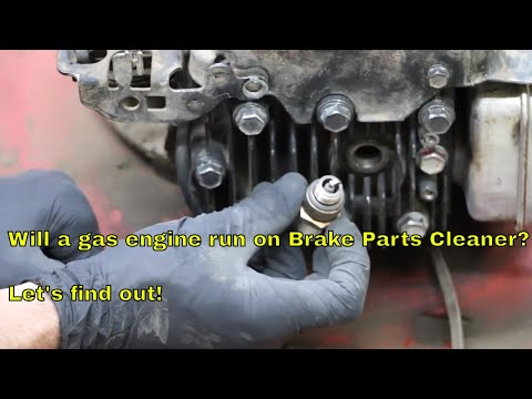 Will a Gas Engine Run on Brake Parts Cleaner?  Lets find out!