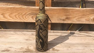 DIY: How to make egyptian cat on a vodka bottle  TUTORIAL