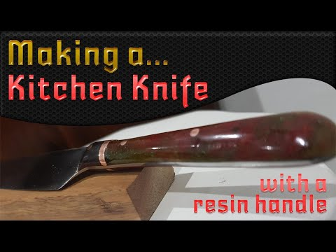 Knife making from scratch with resin handle