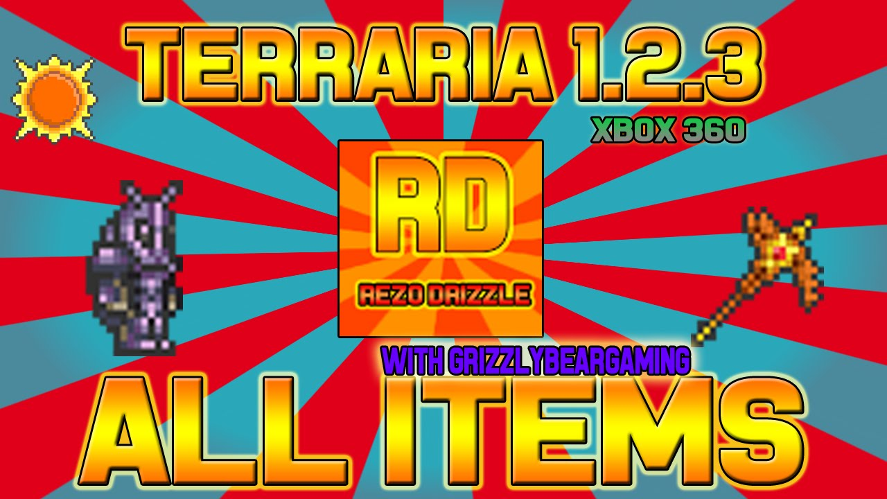 Terraria Xbox 360 All Items Map Collab   (Terraria Xbox360/One) All Items Map 1.2.3 (Update  Terraria Xbox 360 All Items Map