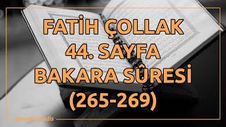 Fatih Çollak 44 Sayfa Bakara Suresi 265 269