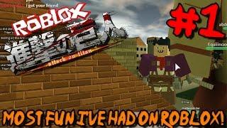MAIS DIVERTIDO QUE EU TIVE EM ROBLOX! | Roblox: Attack on Titan (beta)-Episódio 1