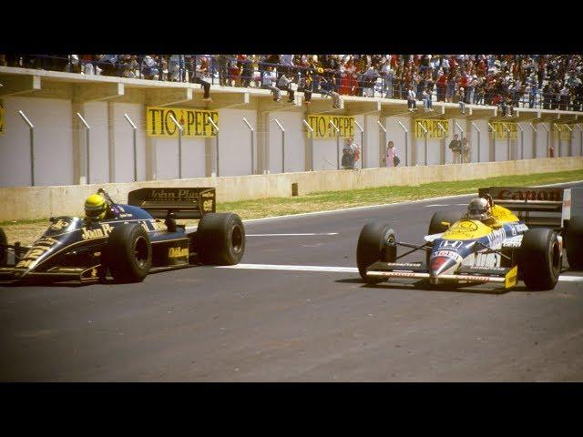 Senna Pips Mansell In Jerez   1986 Spanish Grand Prix