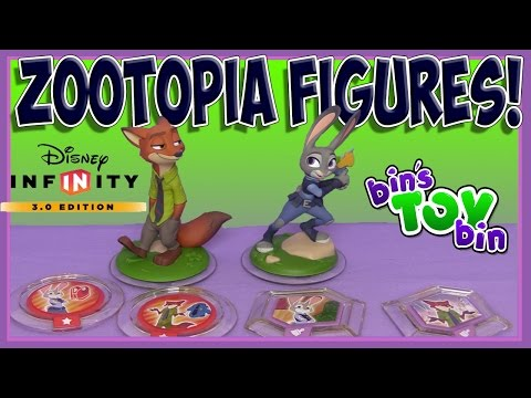 Zootopia Infinity 3.0 Figures of Judy Hopps and Nick Wilde!! Review & Game Play by BinsToyBin
