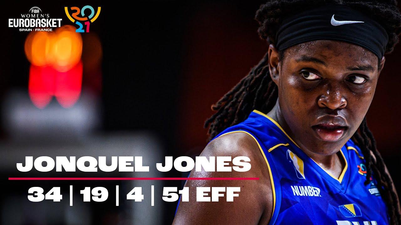 Jonquel Jones – 34 PTS   19 REB   51 EFF – Full Highlights   FIBA Women's EuroBasket