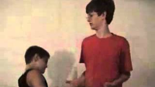 Two weird kids dance to Crazy frog