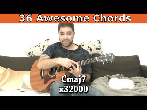 36 Rich, Unique & Spacious Chords and How to Use Them - Guitar Lesson Tutorial w/ TAB