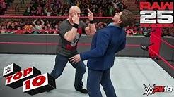 WWE 2K18 - Top 10 Raw (25th Anniversary) Moments | Raw, Jan. 22, 2018