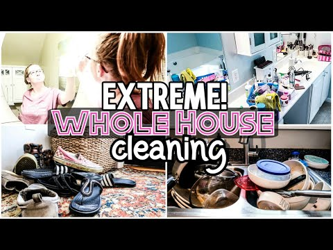 Extreme Whole House Clean With Me 2019   All Day Cleaning   SAHM Motivation