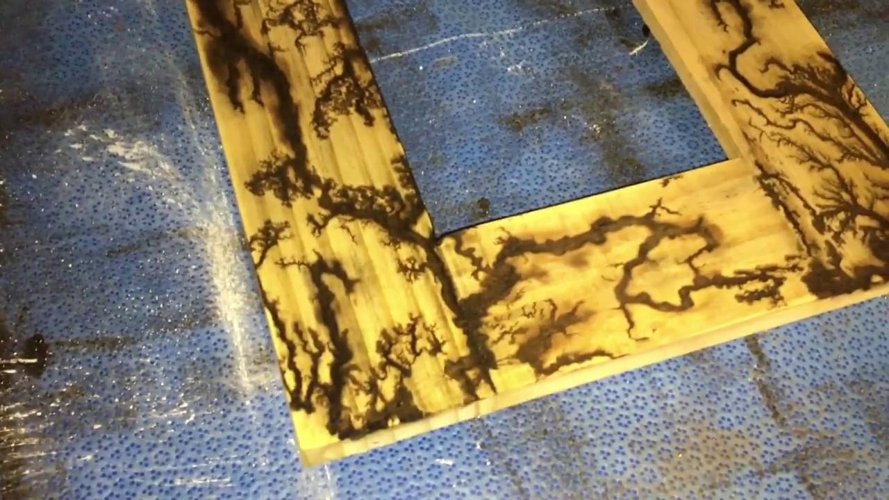 fractal wood burning on a picture frame lichtenburg fractals - Wood Burning Picture Frame