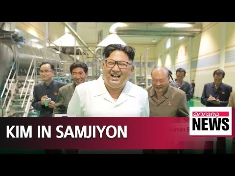 Kim Jong-un inspects production factory, construction sites in Samjiyon County