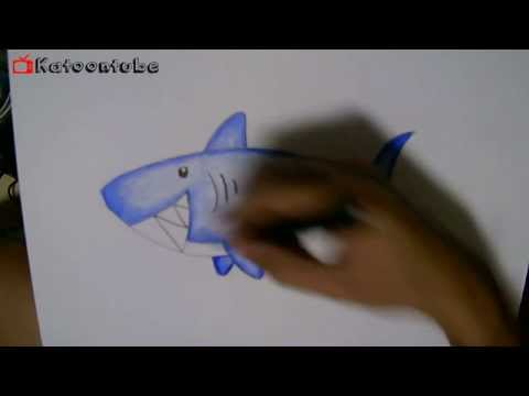 How To Draw Coloring Shark Cartoon