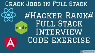 Hacker Rank Full Stack React Code Example #01