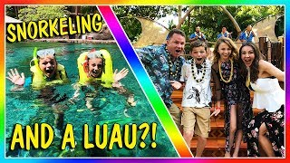 We enjoy a swim in Rainbow Reef and learn to hula at a luau. We are...