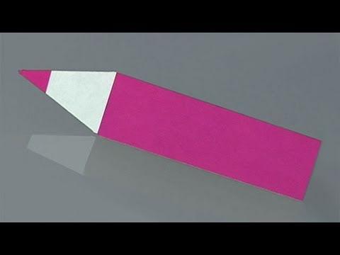 Como fazer um lápis de papel, origami