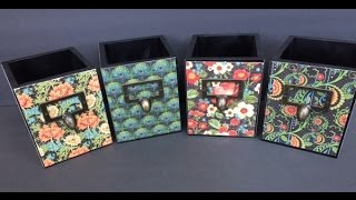 Altered Wooden Pencil Boxes With G45 Paper