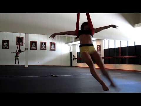 Aerial Yoga Dance on Yoga Swing