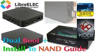 MXQ S805 LibreELEC 8 KODI 17 - How To Install To Internal NAND Memory Using Putty - SSH Guide
