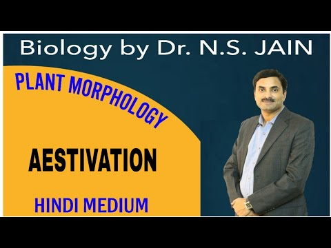 Aestivation (Plant Morphology) for Class 11th in Hindi