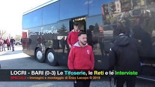 LOCRI - BARI (0-3) le reti, le tifoserie, le interviste e la caduta di un tifoso del Bari (by EL)